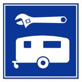 Señal reparacion de caravanas