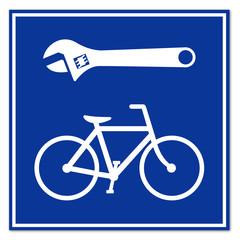 Señal reparacion de bicicleta