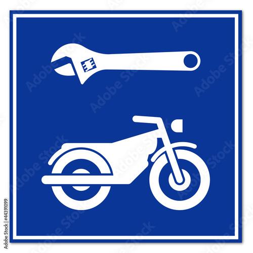 Señal reparacion de motos