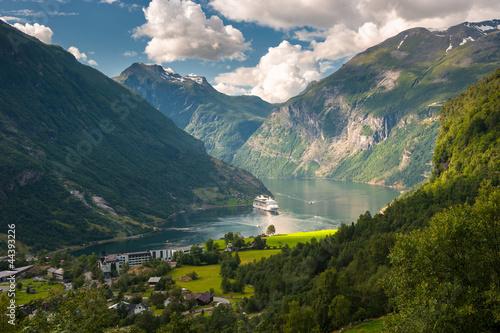 Fototapeten,norwegen,fjord,kreuzfahrt,liner