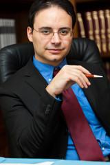 Confident chairman