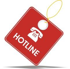 étiquette hotline