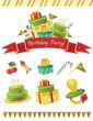 Birthday party vector elements