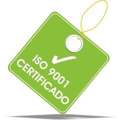 étiquette iso 9001 certificado