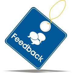 étiquette feedback