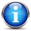 Info Button Blau
