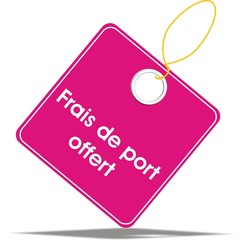 étiquette frais de port offert