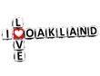 3D I Love Oakland Crossword