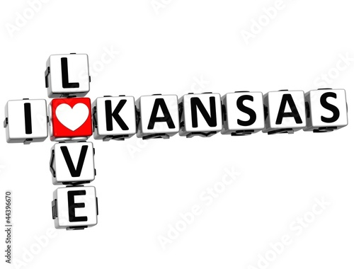 3D I Love Kansas Crossword