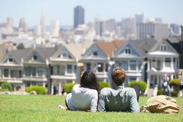 San Francisco - Alamo Square people