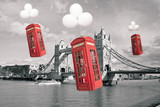 english flying phone booths