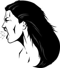 Yelling woman