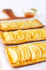 Platter of apple galettes desserts