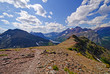 Panorama from an alpine trail