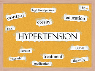 Hypertension Corkboard Word Concept