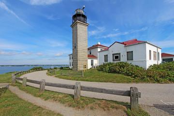The Beavertail Light on Conanicut Island, Rhode Island