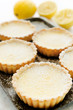 Delicious lemon tarts dusted with icing sugar