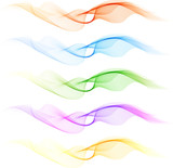 Fototapety Set of colorful blend wave
