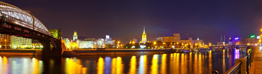Moskva River in summer night
