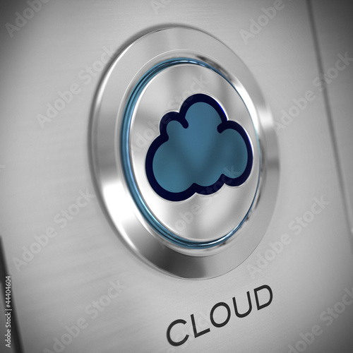Bouton serveur cloud. Cloud computing