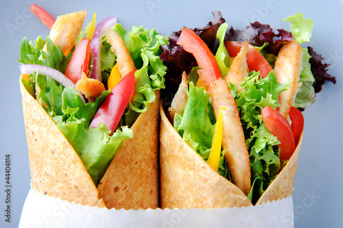 Chicken wrap salad