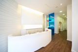 Fototapety Lit reception area in dental clinic.