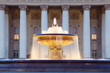 Fountain with illumination near Bolshoi Theatre (Great Theater)