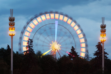 Ferris wheel at exhibition of Achievements of National economy,