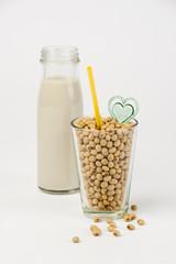 Fresh soy milk and raw soy bean