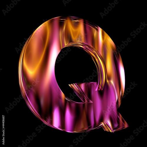 Flammendes Schriftzeichen