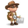 3d Adventurer goes shopping
