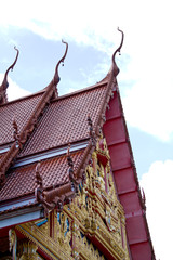 Thai templ in Ubonratchathani Thailand