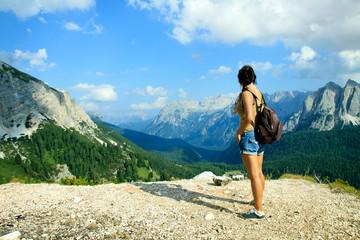 donna in montagna