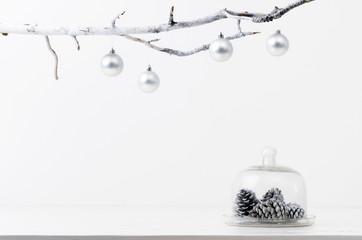 Seasonal christmas table display