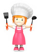 3d render of a little chef