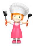 3d render of a little chef