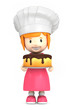 3d render of a little baker