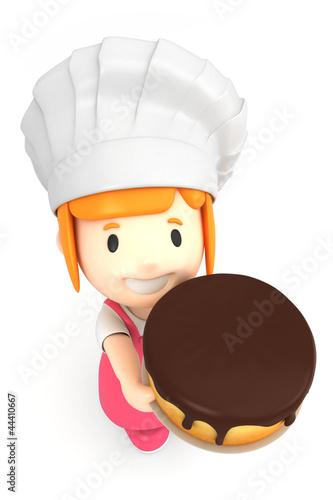 3d render of a little baker