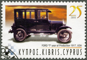 CYPRUS - 2003 : shows Ford Model T, year of production 1917, USA