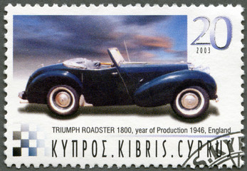 CYPRUS - 2003 : shows Triumph Roadster 1800