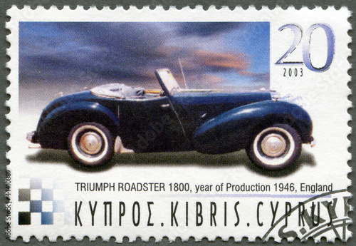 CYPRUS - 2003 : shows Triumph Roadster 1800 Poster