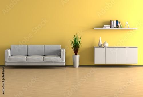 Wohnzimmer gelb von fischer lizenzfreies foto 44414414 auf - Wohnzimmer gelb ...