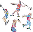 Shot put, Discus, Hammer and Javelin throw