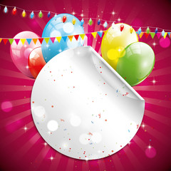 Birthday glossy background with place for your text