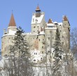 Dracula's Bran Castle with snow