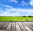 sky and wood floor background