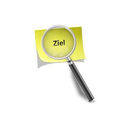 Lupe Haftnotis Ziel magnifying glass self stick note