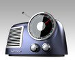 blue metallic retro radio