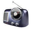 blue metallic retro radio(front up )