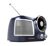 blue metallic retro radio(side angle)
